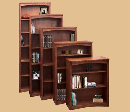 Legends Furniture MM6648RDO Mission Series  3 Shelves Bookcase