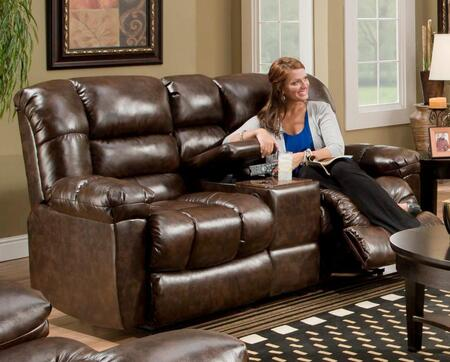 Chelsea Home Furniture 1855024800 New Era Walnut Reclining with Wood Frame Loveseat