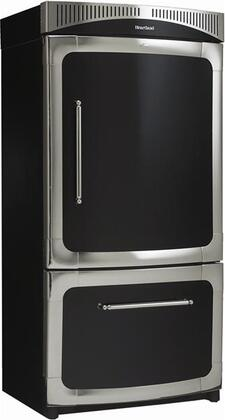 "Heartland 311500LBLK 36"" Classic Series Counter Depth Bottom Freezer Refrigerator with 20 cu. ft. Capacity in Black"