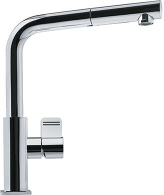 Franke FFPS11 Mythos Series Pull-Out Faucet with Full and Needle Spray, and Side Lever in