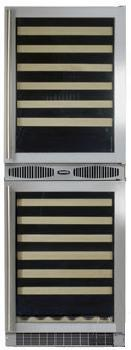 "Marvel 66SWCEBSGR 24.13"" Freestanding Wine Cooler, in Stainless Steel Frame Glass Door"