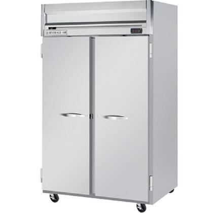 Beverage Air HR2-1 55 Inches Horizon Series Two Section [Solid Door] Reach-In Refrigerator, 49 cu.ft. capacity, Stainless Steel Front, Gray Painted Sides, Aluminum Interior