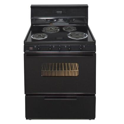 "Premier EDK34 30"" Freestanding Electric Range with 3.91 cu. ft. Capacity, 4 Burners, Interior Oven Light, Closed Door Broiling and Electronic Clock/ Timer in"