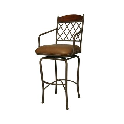 Pastel Furniture QLNR2193 Napa Ridge 26 in. Counter Height Swivel Barstool