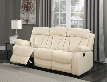 """Meridian Avery 645-S 84"""" Sofa with Top Quality Bonded Leather Upholstery, Glider Reclining and Removable Backs in"""