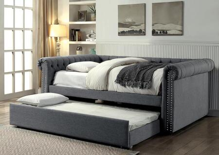 Furniture of America CM1027GYFBED Leanna Series  Full Size Daybed Bed