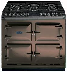 AGA A64LPGSICHO  Dual Fuel Freestanding Range with Sealed Burner Cooktop, 4.5 cu. ft. Primary Oven Capacity, in Chocolate