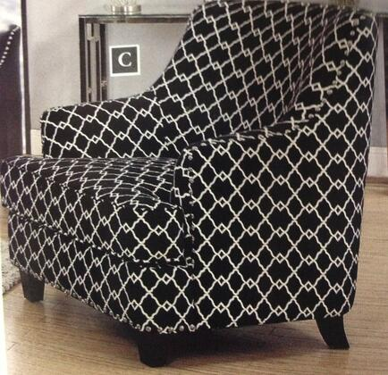 Coaster 902543 Layton Series Armchair Fabric Wood Frame Accent Chair