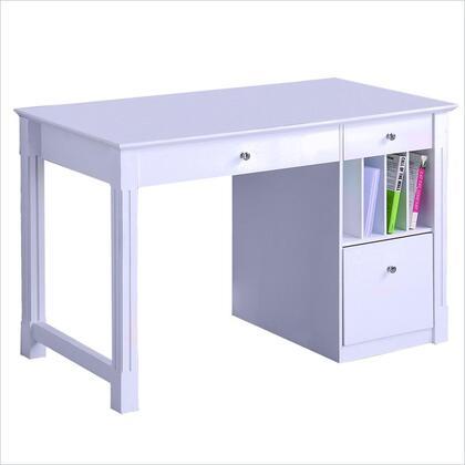 Walker Edison DW48D30WH Writing  Wood Desk