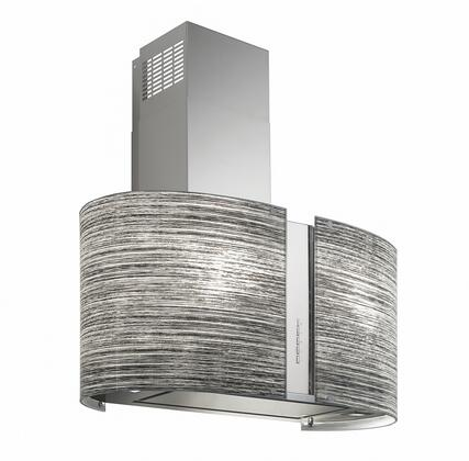 "Futuro Futuro ISxMURMOTION X"" Murano Motion Series Range Hood offer 940 CFM, 4-Speed Electronic Controls, Delayed Shut-Off, Filter Cleaning Reminder, Tempered Glass Panel, and in Stainless Steel"