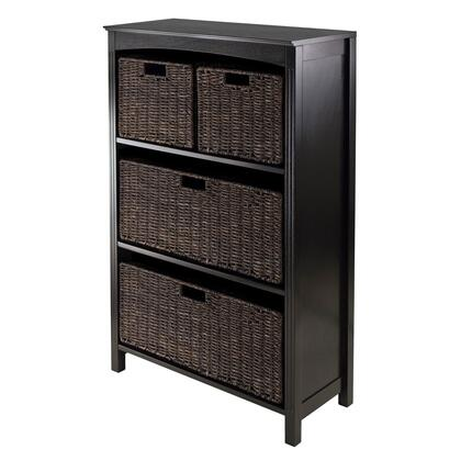 Winsome 92XX4 Terrace 26inch Wide Storage Shelf 4-Tier in Espresso Finish