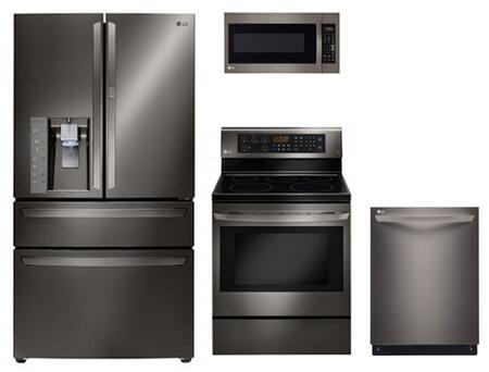 LG 728980 Black Stainless Steel Kitchen Appliance Packages