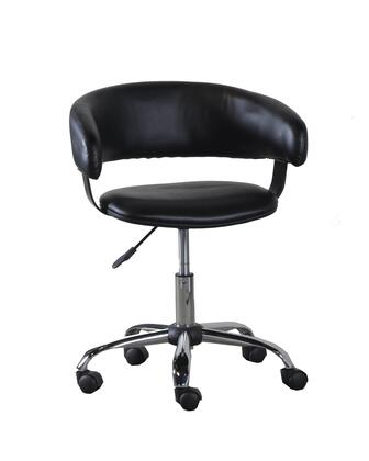 """Powell 14B2010 31"""" - 35"""" Gas Lift Desk Chair with Gas Lift, Curved Seat Back and Swivel Seat in"""
