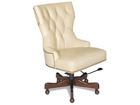 Hooker Furniture EC379-0 Traditional-Style Home Office Desk Chair with Adjustable Seat and Arm Height