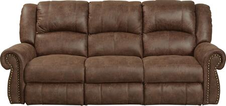 """Catnapper Westin Collection 1051 90"""" Reclining Sofa with Faux Leather Upholstery, Rolled Arms and Decorative Nailhead in"""