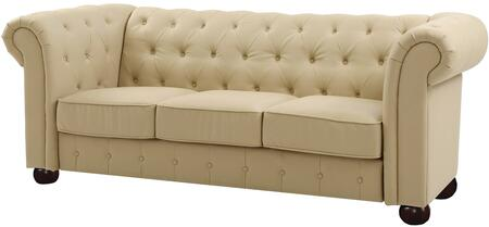 Glory Furniture G492S G490 Series Stationary Faux Leather Sofa