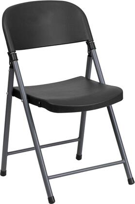 """Flash Furniture DAD-YCD-50-XX-GG 17.25"""" Plastic Folding Chair with Charcoal Frame, Tubular Steel Frame, Designed for Indoor and Outdoor Use, and Easily Nests For Stacking"""