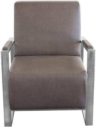 Diamond Sofa CENTURYCHEG Century Series Armchair Bonded Leather Metal Frame Accent Chair