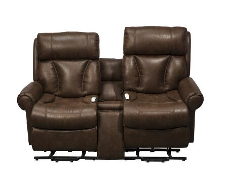 "Mega Motion Companion NM9002 72"" Power Reclining Loveseat with Lift Option, 3-Position Mechanism and Chaise Pad in"