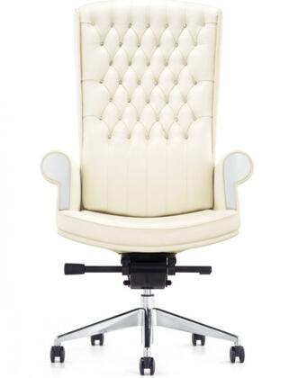 "VIG Furniture VGFUF126WHT 30"" Adjustable Traditional Office Chair"