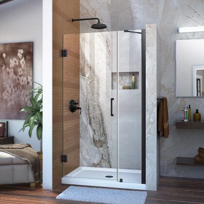 Unidoor Shower Door with Base 12 28D 12P support arm 09 72 WM 11 16