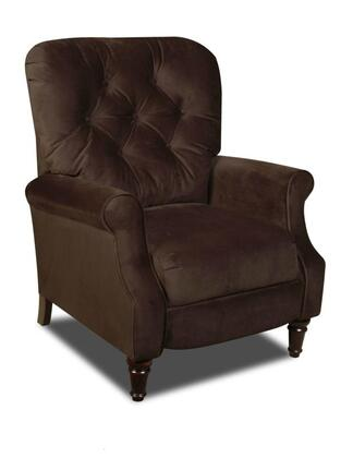 Chelsea Home Furniture 1826506800 New Hampshire Series Traditional Noble Chocolate Wood Frame  Recliners