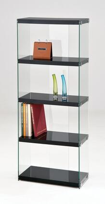 Acme Furniture 92180 Baxter Series Wood and Glass 3-4 Shelves Bookcase