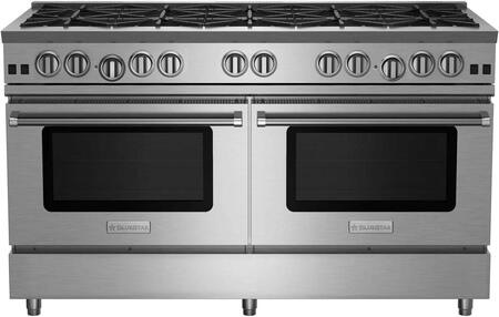 """BlueStar RNB6010BV RNB Series 60"""" Freestanding Gas Range with 10 Cast Iron Open Burners, 4.5 Cu. Ft. Convection Oven, Simmer Burner, Full Motion Grates and Stainless Steel Drip Trays"""