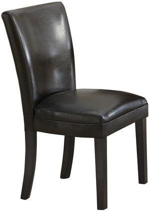 """Coaster Carter 23.5"""" Dining Side Chair with Cappuccino Tapered Legs, Curved Shape Back, Plush Seat and Leatherette Upholstery in"""