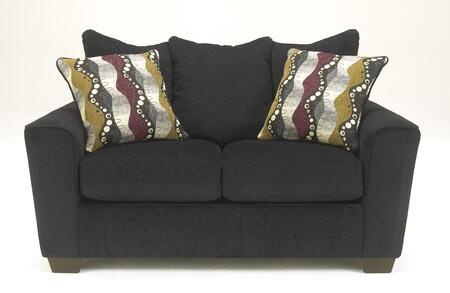 Benchcraft 2690X35 Brogain Loveseat with Two Pillows Included, Tapered Feet and Plush Seating Cushions in