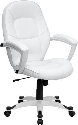 "Flash Furniture QD5058MWHITEGG 27.25"" Contemporary Office Chair"