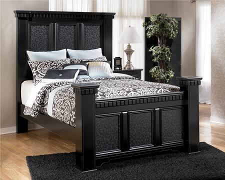 Signature Design by Ashley Cavallino Collection B291-BED Size Mansion Bed in Deep Black