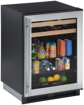 U-Line 1175BEVS15  Compact Refrigerator with 5.6 cu. ft. Capacity in Stainless Steel