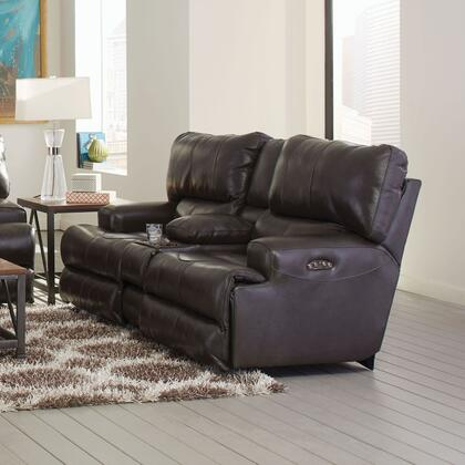 "Catnapper Wembley Collection 89"" Lay Flat Reclining Console Loveseat with Extra-Wide 2-Seat ""T"" Front Design, Coil Seating Comfor-Gel and Genuine Italian Leather Upholstery"