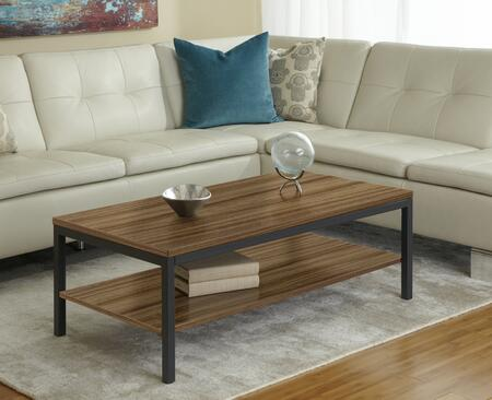 Unique Furniture P4724S Coffee table with Shelf in Walnut