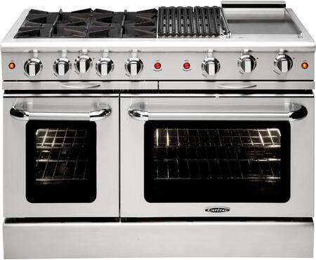 "Capital MCOR484BGN 48"" Culinarian Series Gas Freestanding Range with 4.9 cu. ft. Primary Oven Capacity, in Stainless Steel"