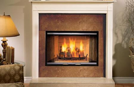 "Majestic S42A Sovereign 42"" Woodburning Fireplace with Tapered Firebox, Ash Management System, and Expansive Viewing Area"