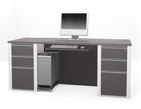 Bestar Furniture 93869 Connexion Executive desk including assembled pedestals