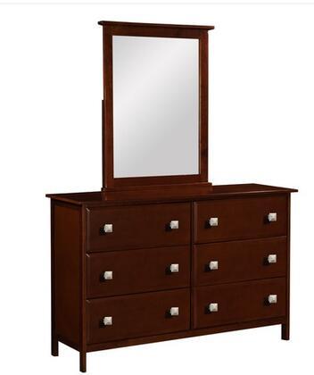 Donco 1492E  Rectangular Portrait Dresser Mirror