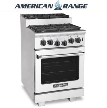 American Range ARR244SISS Titan Series Gas Freestanding Range with Sealed Burner Cooktop, 3.71 cu. ft. Primary Oven Capacity, in Stainless Steel