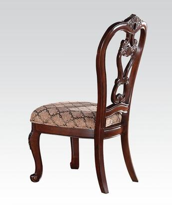 Acme Furniture 60593 Dorothea Series Traditional Fabric Wood Frame Dining Room Chair