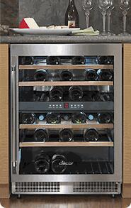 """Dacor EF24RWCZ2SS 23.625"""" Built-In Wine Cooler"""