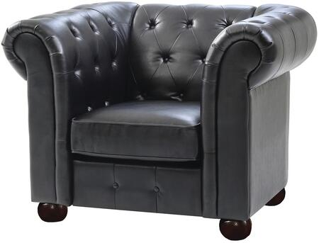 Glory Furniture G493C Faux Leather Armchair with Wood Frame in Black