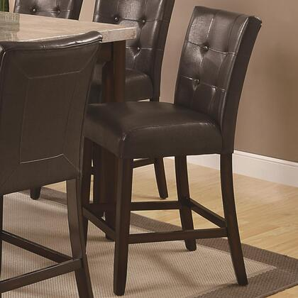 Coaster 103779 Milton Series Casual Vinyl Wood Frame Dining Room Chair
