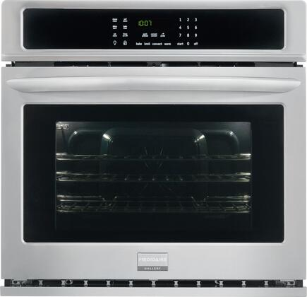 """Frigidaire FGEW3065P 30"""" Single Electric Wall Oven with 4.6 cu. ft. Capacity, Quick Preheat, True Convection Oven, One-Touch Options, Steam Cleaning, and Delay Start: Stainless Steel"""