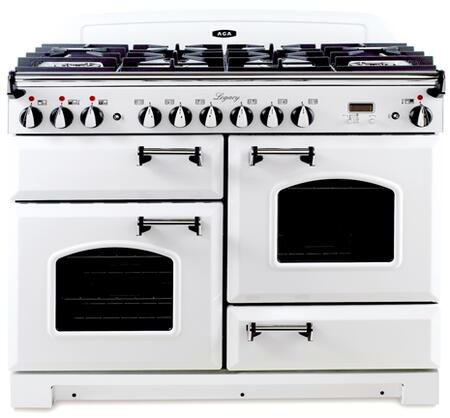 "AGA ALEBS44DFCDVWT 44"" Legacy Series Dual Fuel Freestanding Range with Sealed Burner Cooktop, 2.2 cu. ft. Primary Oven Capacity, Storage in Vintage White"