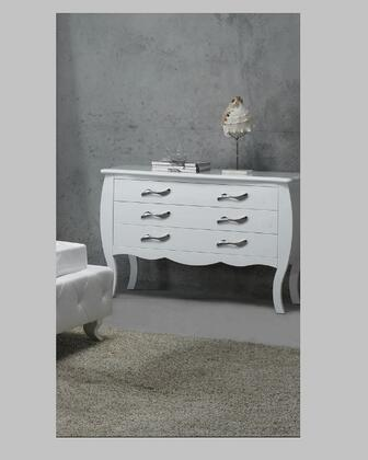 VIG Furniture VGKCMONTEDRPLATINUM Monte Carlo Series Wood Dresser