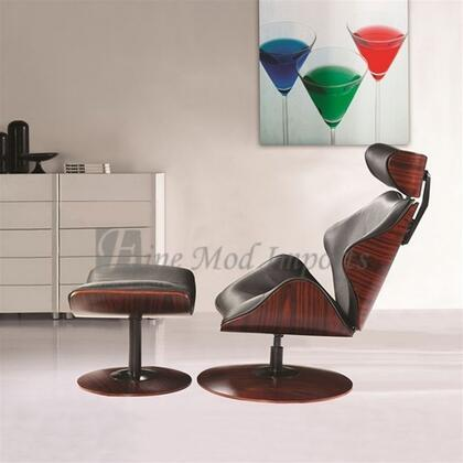 Fine Mod Imports FMI8004 Leather Luxur Lounge Set With Ottoman: