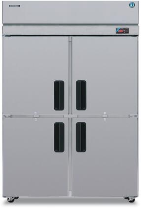 """Hoshizaki PTR2SS 55"""" Professional Series Pass Thru Refrigerators with 51.30 cu. ft. Capacity, 6 Adjustable Shelves, EverCheck System, Stainless Steel Exterior and Interior, and Energy Efficient Thermostatic Expansion Valve: Stainless Steel"""