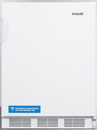 """AccuCold FF6BIXADA 24"""" AccuCold Series ADA Compliant Medical Freestanding or Built In Compact Refrigerator with 5.5 cu. ft. Capacity, Adjustable Shelves, Crisper, Door Storage and Interior Lighting:"""
